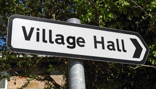 Village Hall signpost